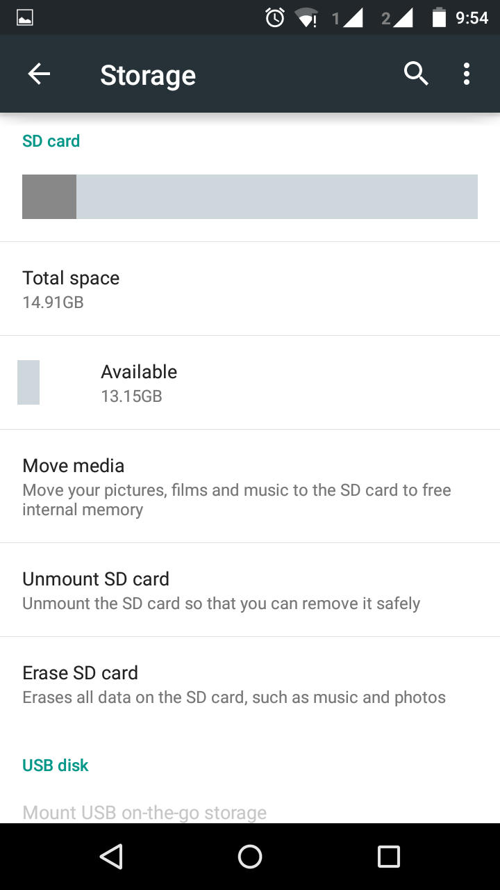 Make SD Card As Default Storage In Moto G (2nd Generation)