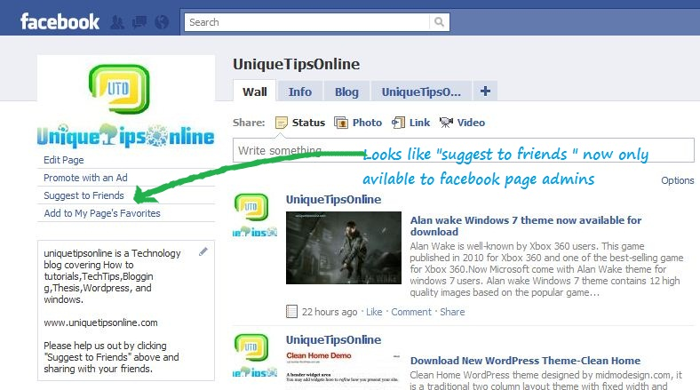 Facebook suggest-to-friends