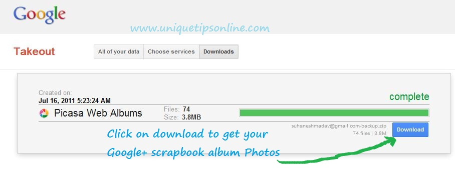 How To Download Google Scrapbook Album Photos