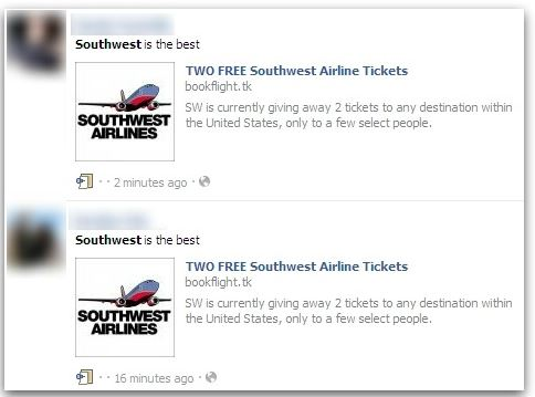 Two Free Southwest Airlines Tickets