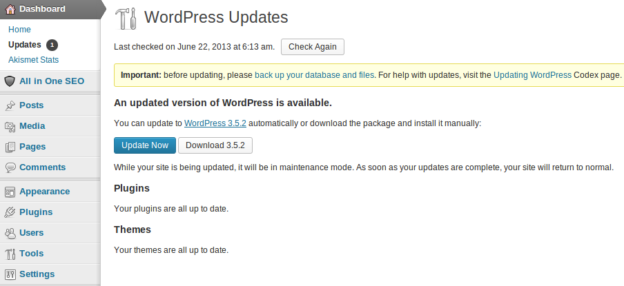 WordPress 3.5.2