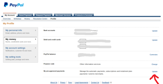 paypal agreement