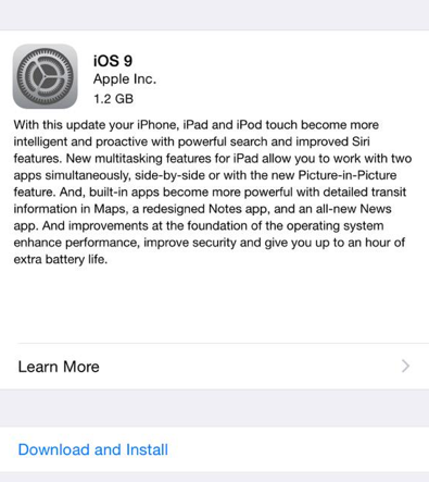 iOS9 Download